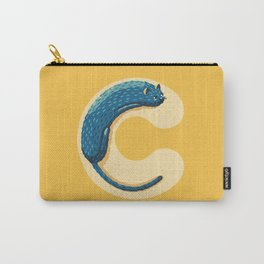 C for Cat Carry-All Pouch