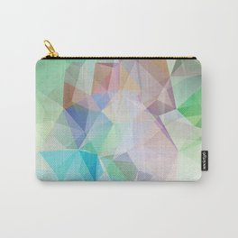 Delicate green polygonal pattern . Carry-All Pouch