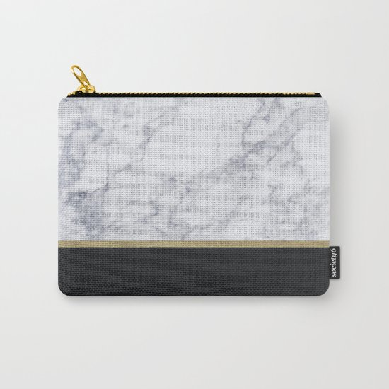 MARBLE GOLD BLACK Carry-All Pouch