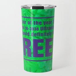 Green and Ultra Violet Travel Mug