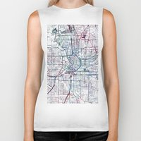 atlanta Biker Tanks featuring Atlanta map by MapMapMaps.Watercolors