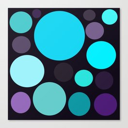 Blue and Purple Dots Canvas Print