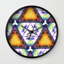 Prism Triangle Original Artwork by Rachael Rice Wall Clock