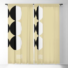 Mid Century Geometric Circles Blackout Curtain