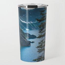 Blue Crater Lake Oregon in Summer Travel Mug