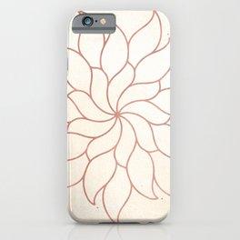 Flowery Rose Gold Mandala on Cream III iPhone Case