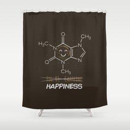 Caffeine Happiness Shower Curtain