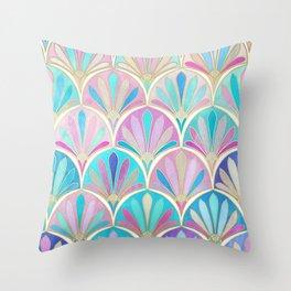 Glamorous Twenties Art Deco Pastel Pattern Throw Pillow