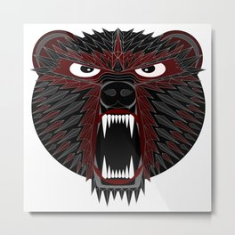 BT Bear Metal Print