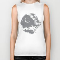 death star Biker Tanks featuring Death Star by Krakenspirit