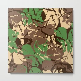 Natural style camouflage pattern Metal Print