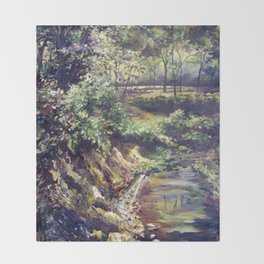 Springtime Creek Throw Blanket