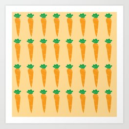 carrots pattern Art Print