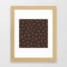 Dark Coffee Beans Framed Art Print