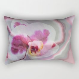 Pink, purple abstract spotted orchid Rectangular Pillow