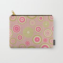 Pastel circles (pink) Carry-All Pouch