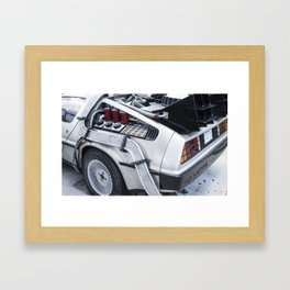 When this baby hits 88 miles per hour... Framed Art Print