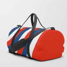 Retro Circles Pop Art - Red White & Blue Duffle Bag