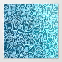 waves Canvas Prints featuring Waves by Arcturus