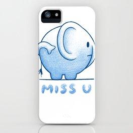 blue elephant iPhone Case