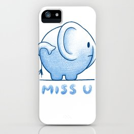 blue elephant iPhone Case