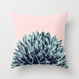 Blush Navy Blue Agave Chic #1 #succulent #decor #art #society6 Throw Pillow