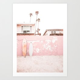 Beach Pink California Art Print