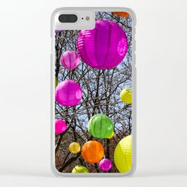 Colorful Lanterns Swinging In The Trees Clear iPhone Case