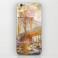 Brooklyn Bridge New York Mixed Media Art iPhone & iPod Skin