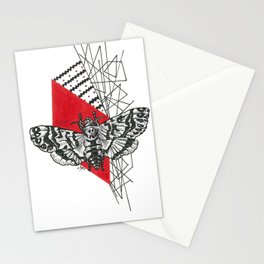 Hawkmoth Abstract Stationery Cards