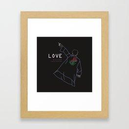 BTS RM LOVE LINE ART Framed Art Print