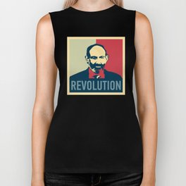 Duxov. Nikol Pashinyan. Armenian revolution. #society6 #decor #buyart #artprint Biker Tank