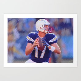 Philip Rivers - Chargers - #17 Art Print