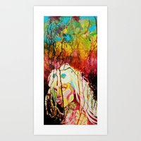 artrave Art Prints featuring #ArtRAVE by Indolent Ink