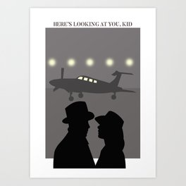 Casablanca Here's looking at you Art Print