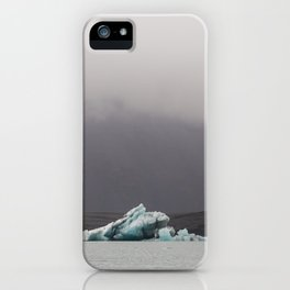 Iceberg on the glacial lagoon - landscape photography iPhone Case