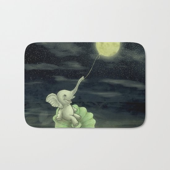 Give me a string, I will fly to the Moon! Bath Mat