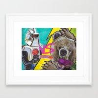 battlestar Framed Art Prints featuring Bears Beets Battlestar Galactica by monsterlash