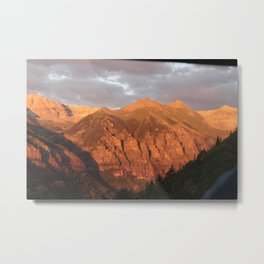 Warm Mountains Metal Print