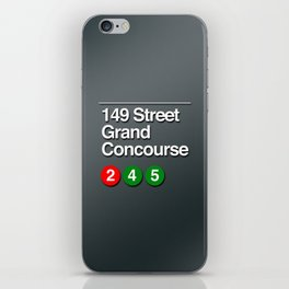 subway grand concourse sign iPhone Skin