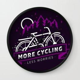 More Cycling Wall Clock