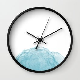 Minimal abstract blue 3 Wall Clock