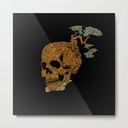 Timber Skull Metal Print