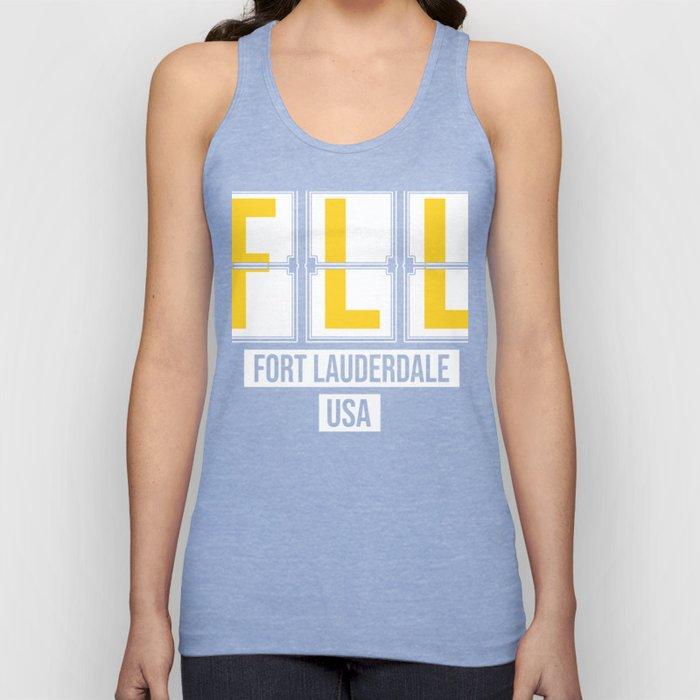 FLL - Fort Lauderdale Airport Florida - Airport Code Souvenir or Gift Design  Unisex Tank Top
