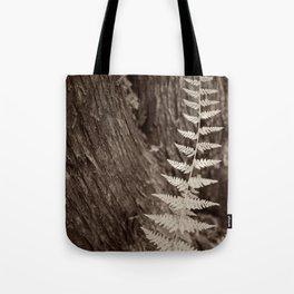 Single Copper Fern Tote Bag