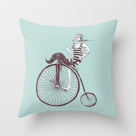 Mustache Handlebar Throw Pillow