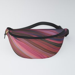 Plum Abstract Fanny Pack
