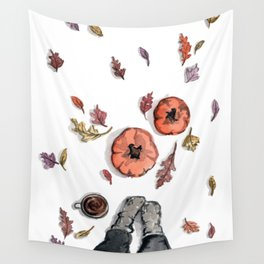 All Things Fall Wall Tapestry