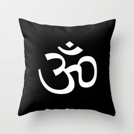 Ohm Black & White Throw Pillow