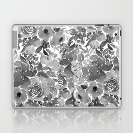 Black and White Watercolor Bouquet Laptop & iPad Skin